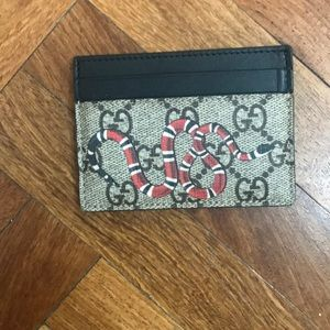 Gucci Snake Card Holder